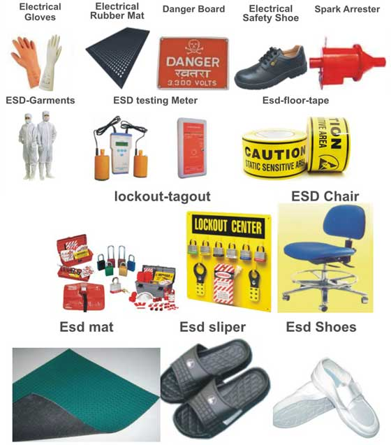 Electrical Safety Gear : Fire extinguishers chennai industrial safety equipments